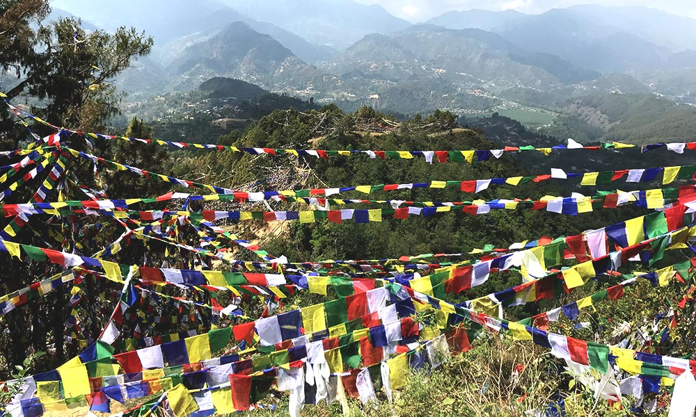 Prayer flags and sceneries