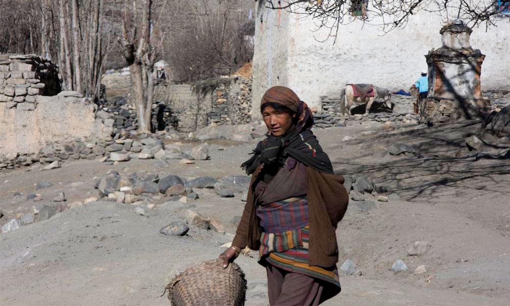 Indigenous woman at Upper Mustang