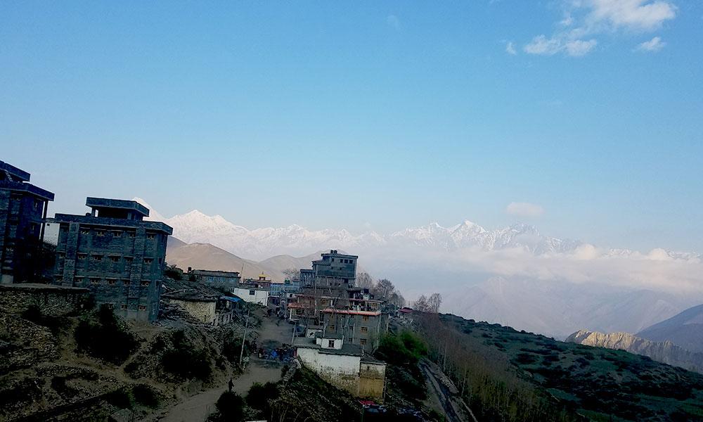 View of Dhaulagiri from Muktinath