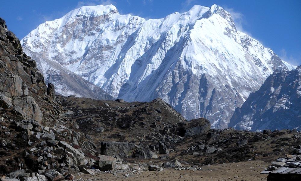 View of Nepal Peak from Lhonak