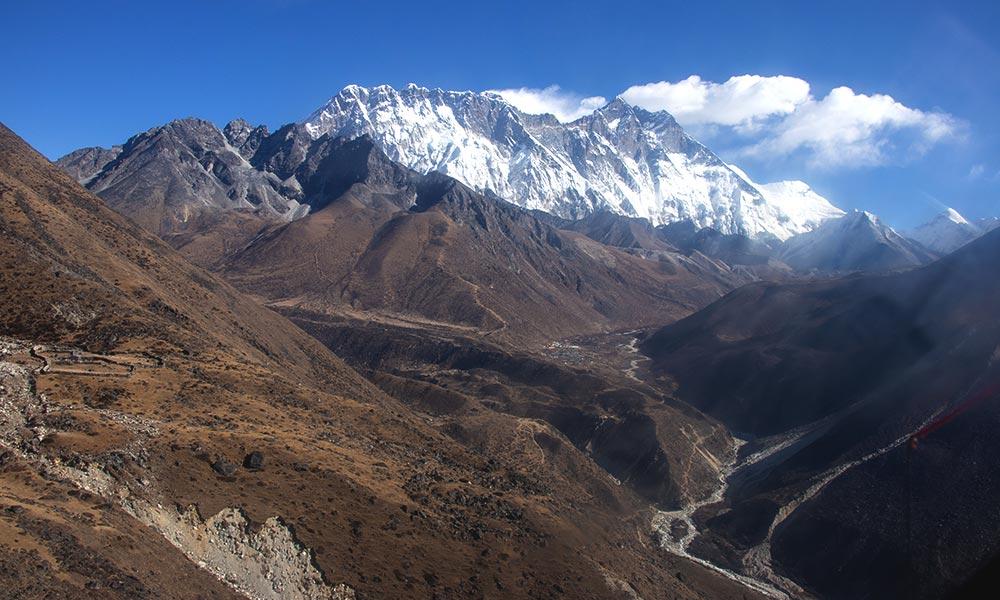 View of Lhotse from Mountain Flight