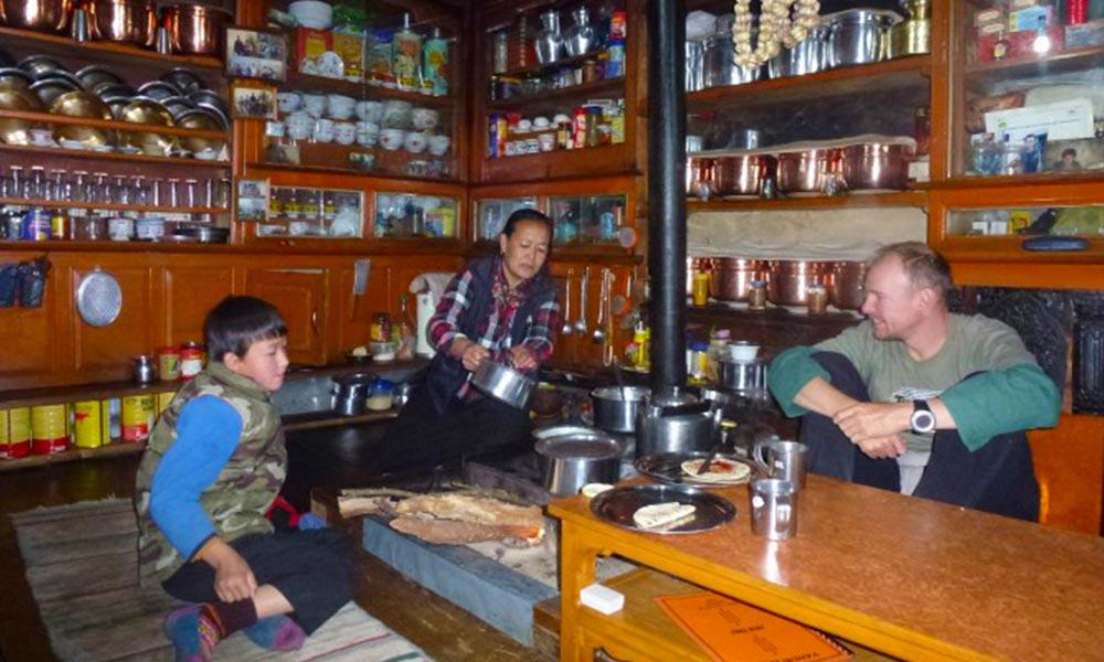Local Kitchen in Helambu
