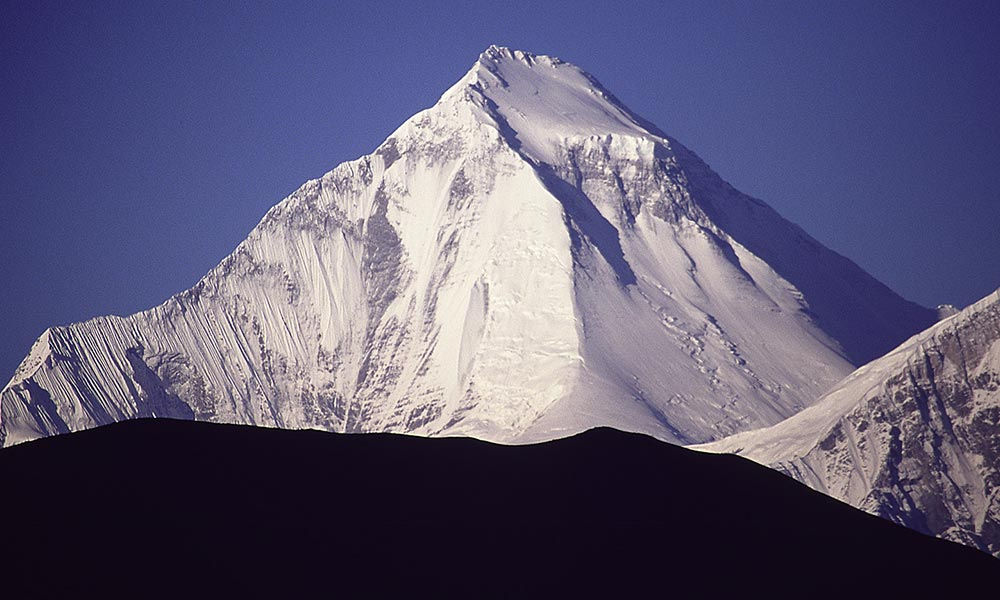 Mt. Dhaulagiri, the seventh highest mountain in the world at 8,167 metres
