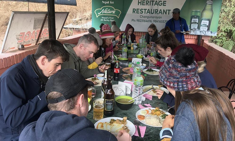 Lunch at Heritage Restaurant, Changunarayan