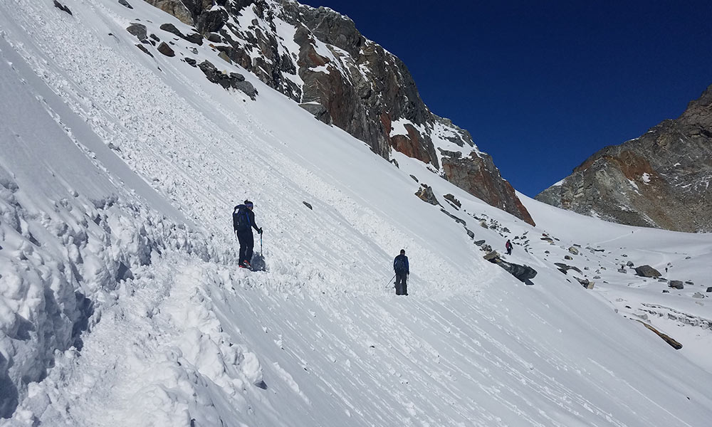 On the way to Chola Pass
