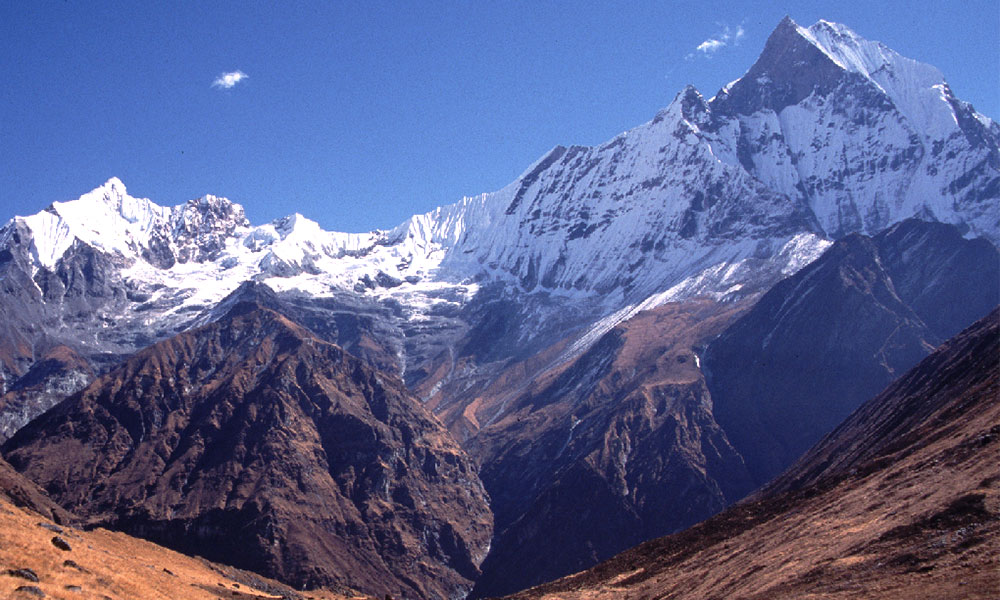 View of Fishtail from Machhapuchhre Base Camp