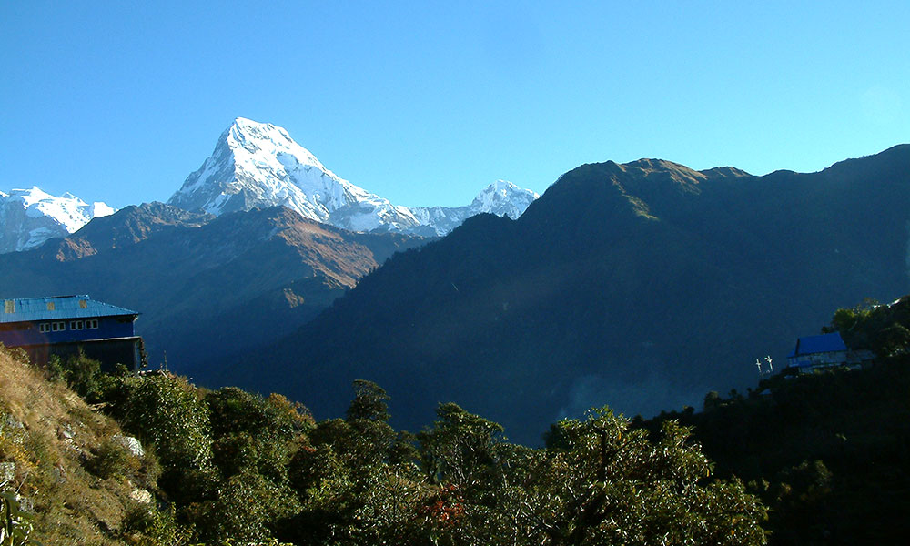 View of Annapurna South from Ulleri