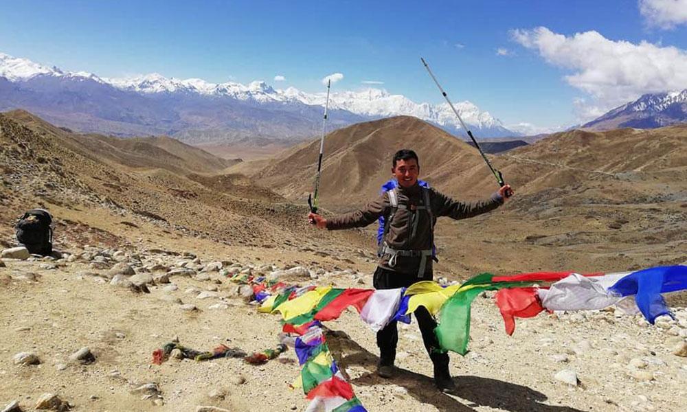 Our guide Krishna Gurung on Teri La Pass