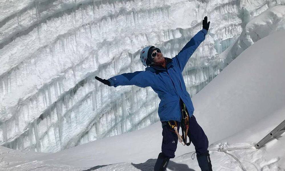 Tourist enjoying during Mera Peak Climbing
