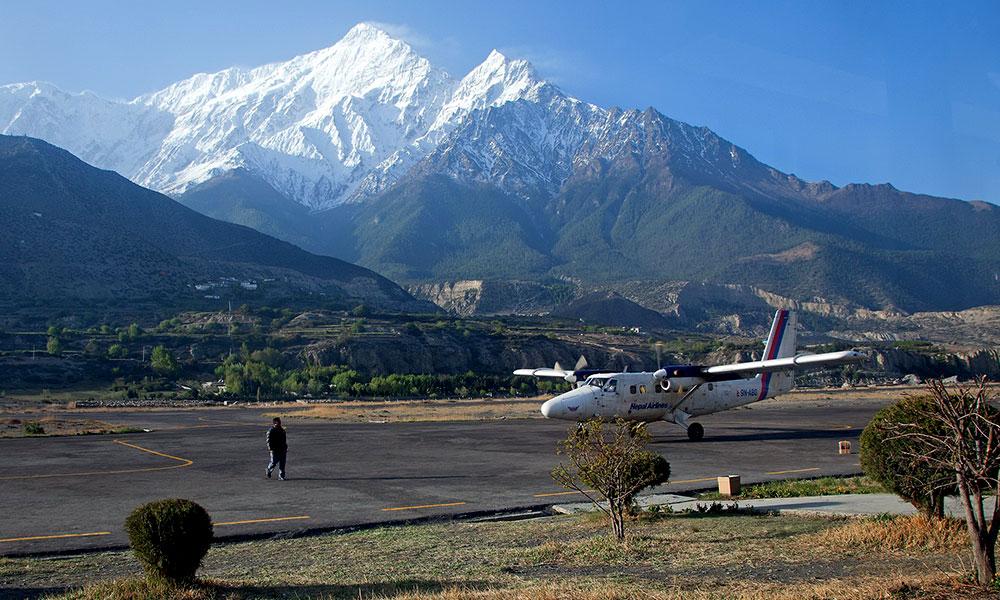 Landing at Jomsom Airport