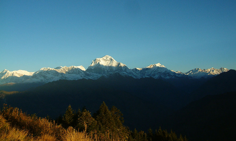 View of Annapurna ranges from Poon Hill