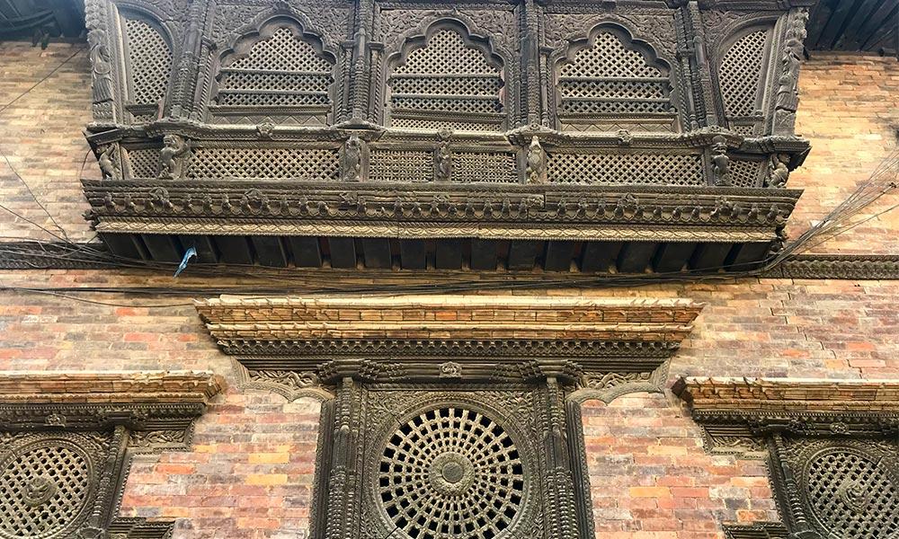 Traditional windows at Bhaktapur