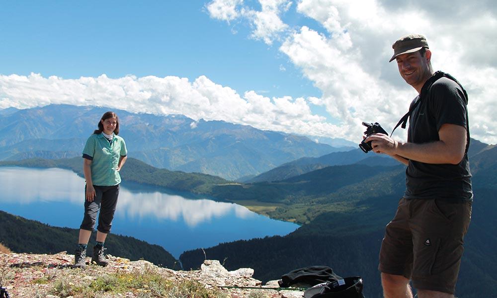 Trekkers having Photo Session