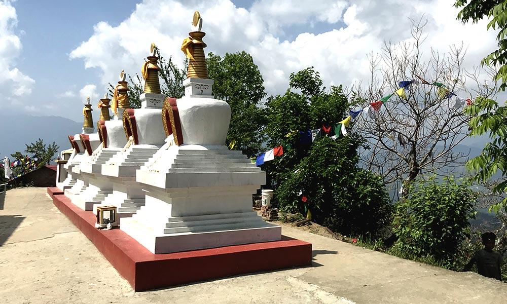 Chortens at Namobuddha