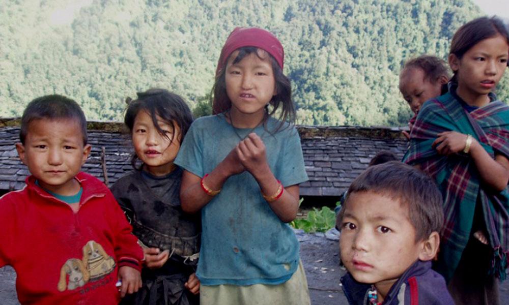 Faces of local Magar children