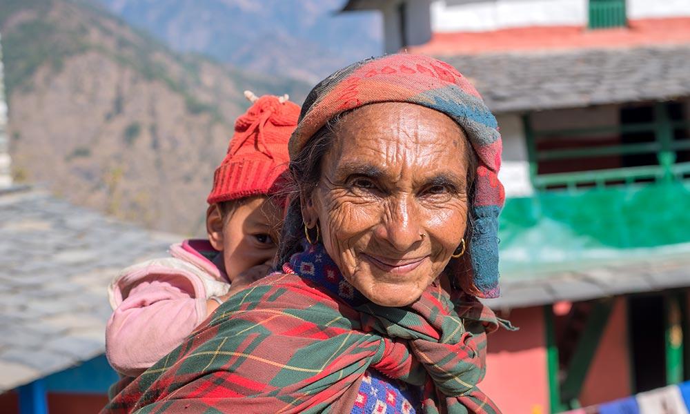 A local woman at Dhaulagiri