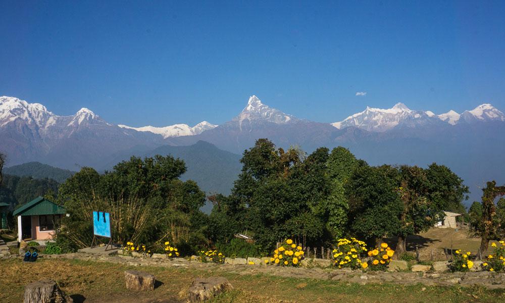 View of Annapurna ranges from Australian Camp