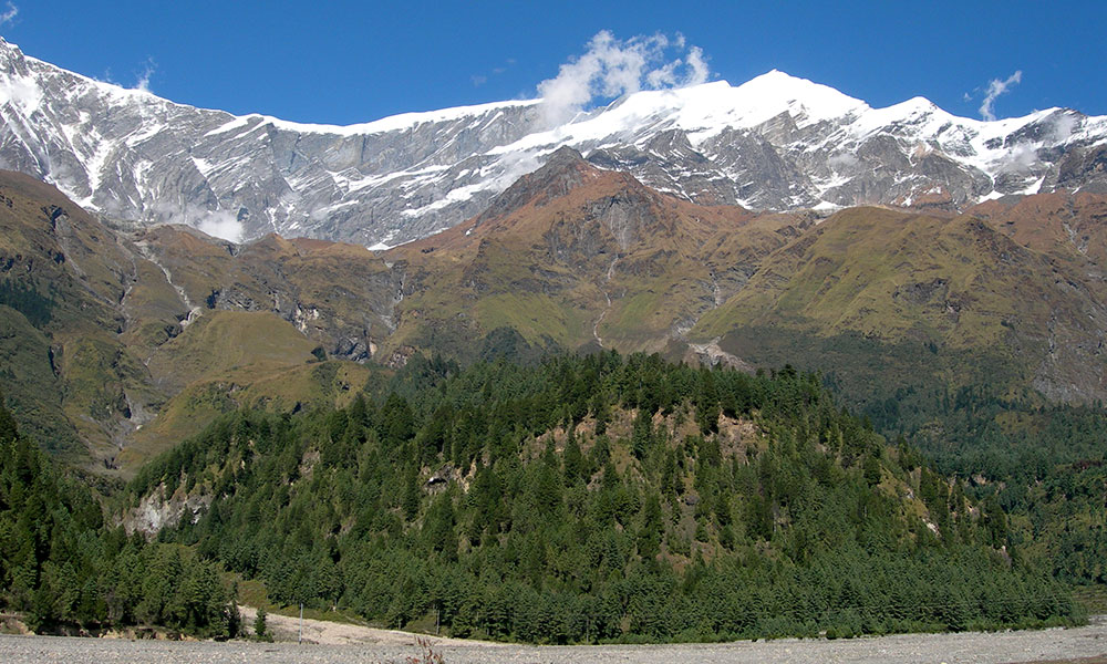 View of Tukuche peak from Marpha