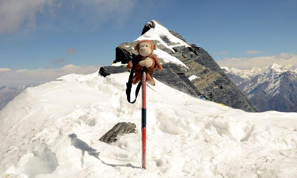 Summit of Dhampus Peak (6,060m)
