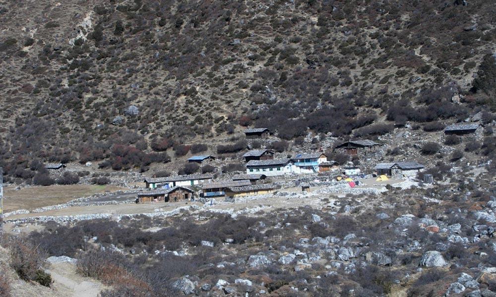 Khambachen- typical Nepali village