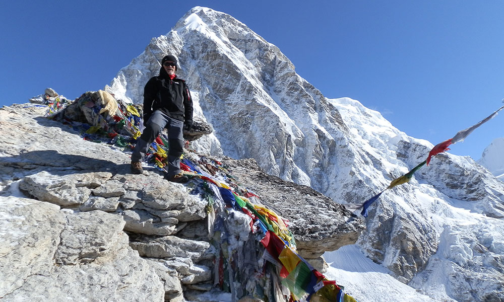 Kala Patthar - one of the nearest viewpoint of Everest