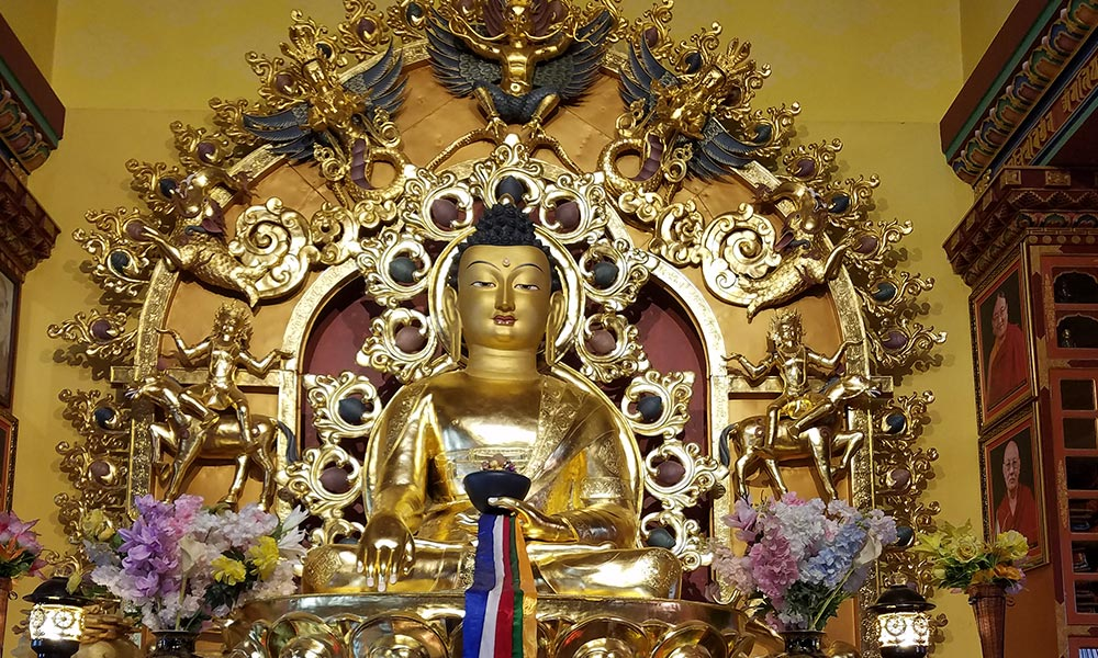 Statue of Buddha inside the Monastery in Lo-Manthang