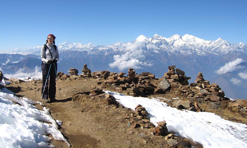 View of Annapurna ranges from Lauribina La Pass