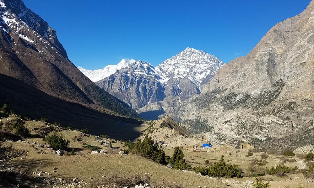 Pisang Peak view from Chyako