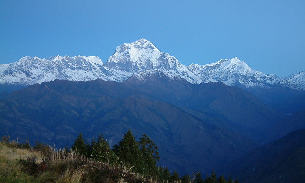 View of Dhaulagiri from Poon Hill