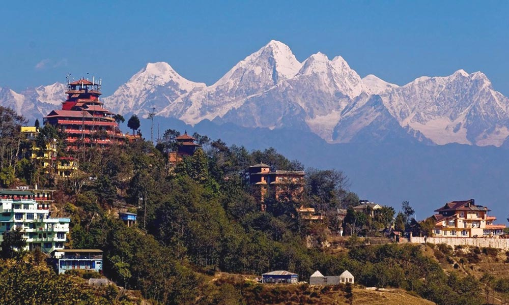 View of Mountain Ranges from Nagarkot
