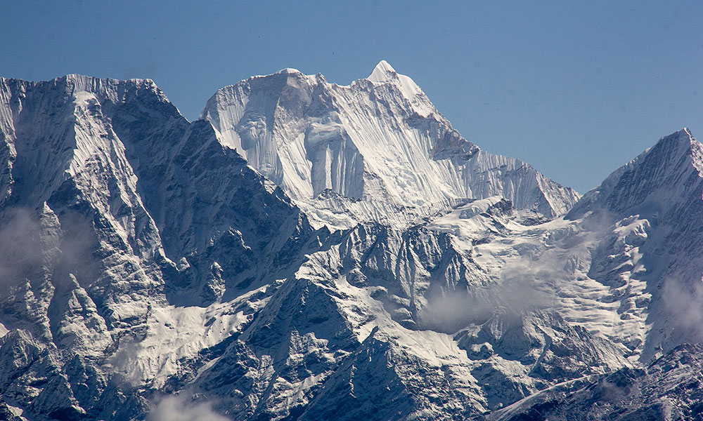 Mount Melungtse - the highest mountain of the Rolwaling Himal