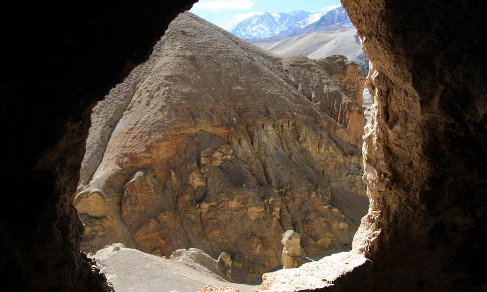 View from Jhong Cave Mustang