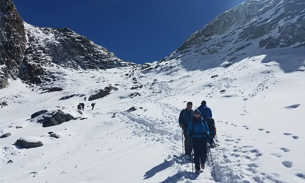 Descending from Chola Pass