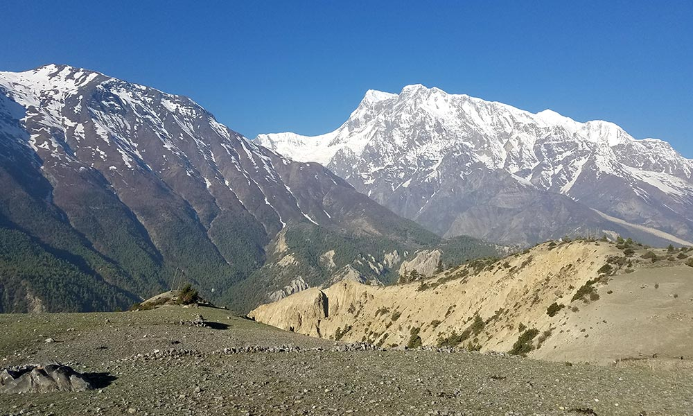 View of Gangapurna from Manang