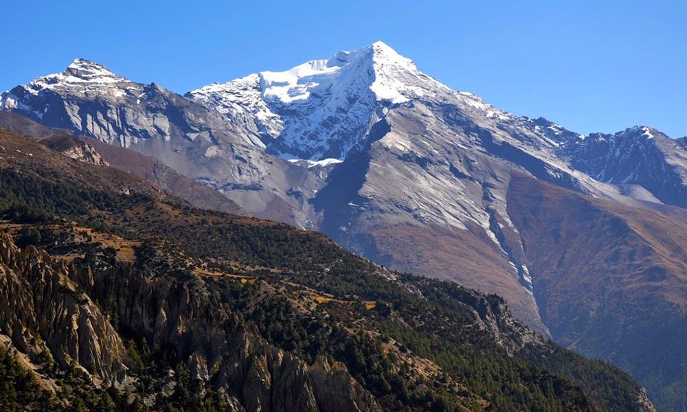 Pisang Peak from Base Camp
