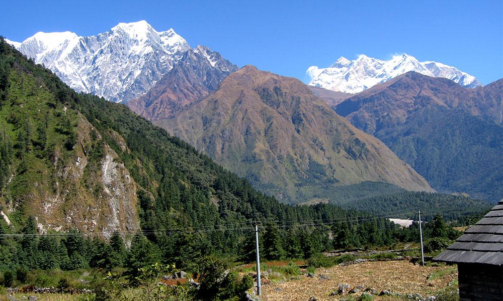 NIlgiri and Annapurna-I view from Kala Pani