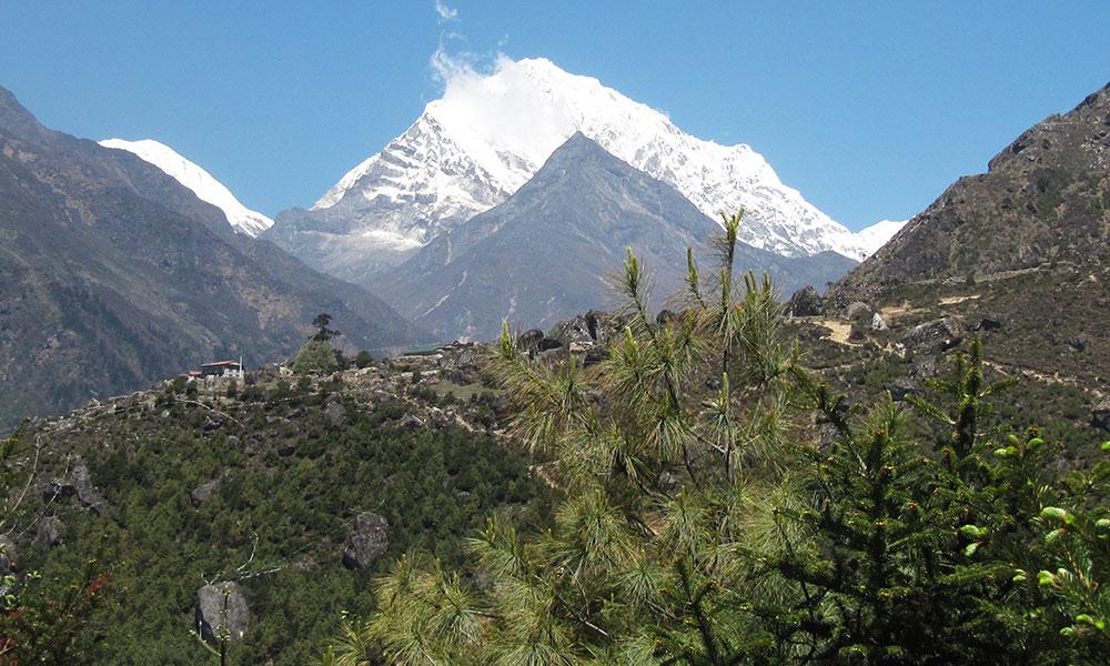 View from Sagarmatha National Park office