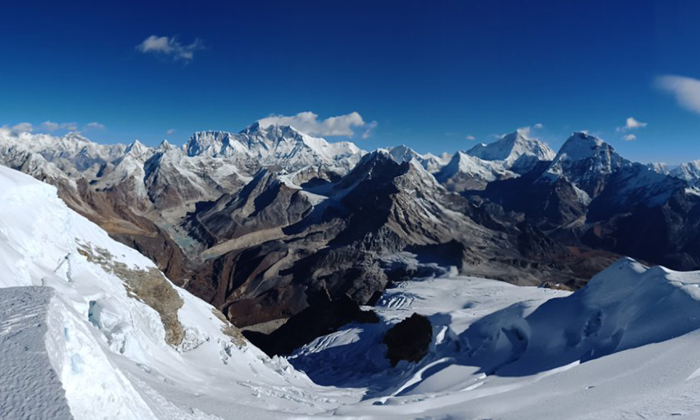 View from Mera Peak Summit