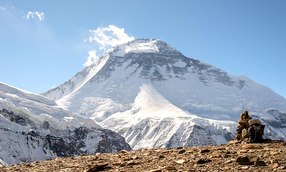 Mt. Dhaulagiri, the seventh highest mountain in the world at 8,167 meters (26,795 ft.) above sea lev