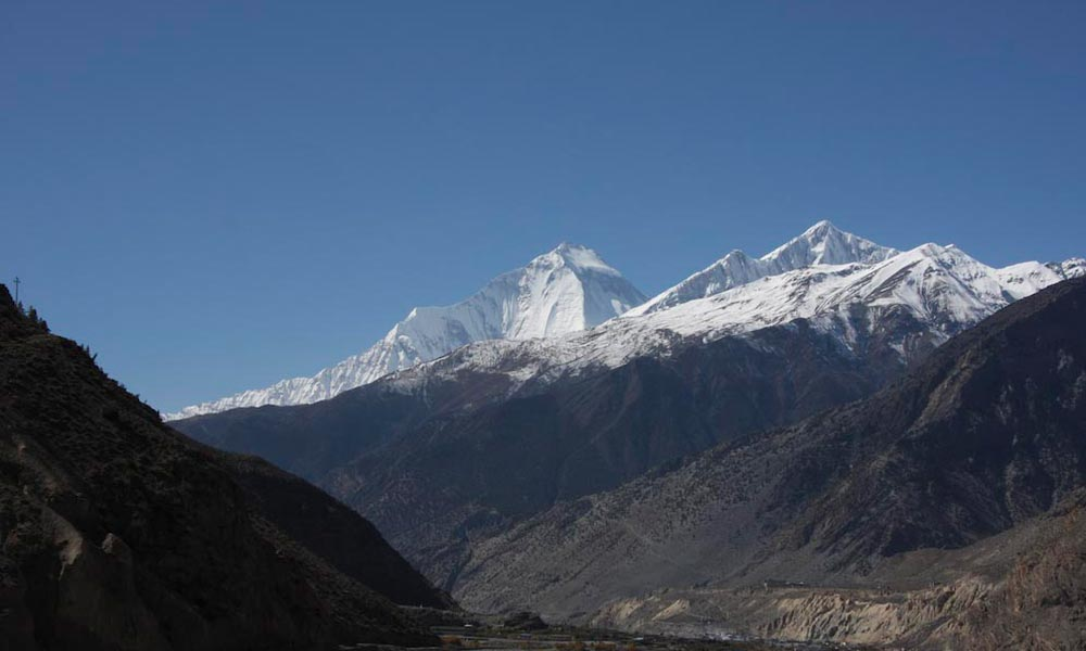 View of Dhaulagiri from Jomsom