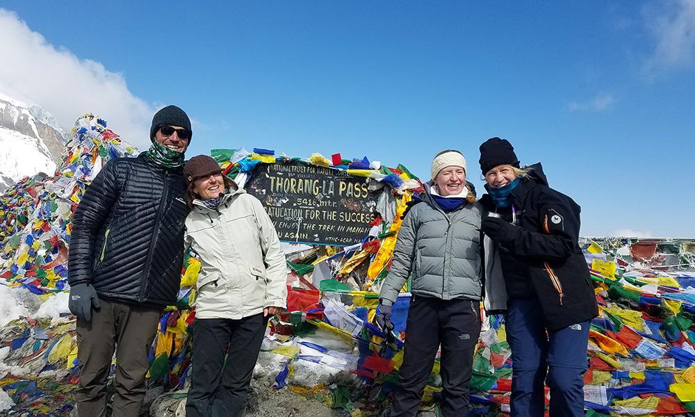 Tourists at Thorong La Pass