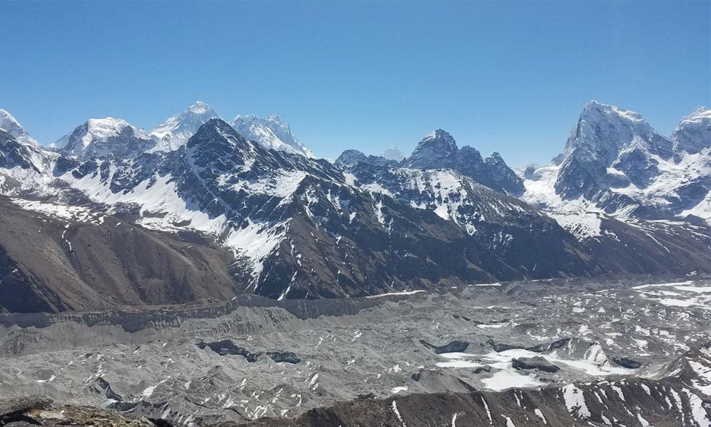 Ngozumpa Glacier - one of the longest glacier in the Himalayas