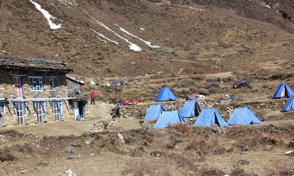 Camp Site on the Trek