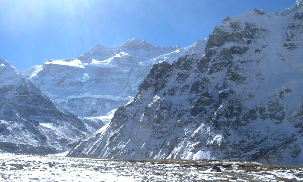 View of Kanchenjunga from Pangpema
