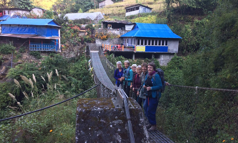 Suspension bridge at Tikhedhunga