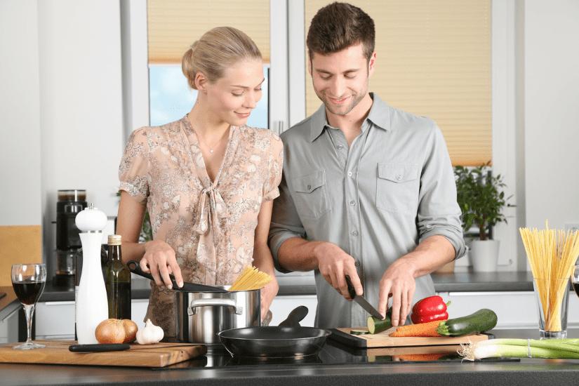 Underholdning, når du laver sund gourmet
