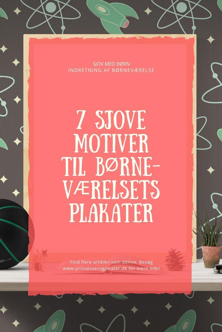 7 sjove motiver til børneværelsets plakater