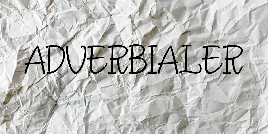 Hvad er adverbialer?
