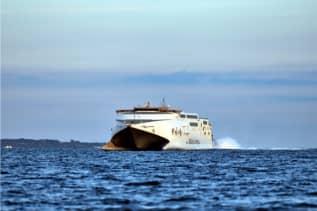 'Express 4' har netop sat kurs mod Aarhus