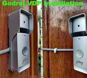 How Sky Vision CCTV install Godrej Video Door Phone In bangalore